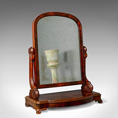 London Fine Antigüedades Espejo de tocador antiguo, victoriano, tocador, inodoro, Art Nouveau circa 1890