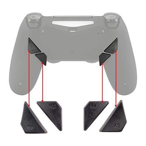 eXtremeRate Ersatzteile Tasten Rückseite Knöpfe Buttons K1 K2 K3 K4 Paddles PS4 Controller Dawn Remap Kit(Grau)