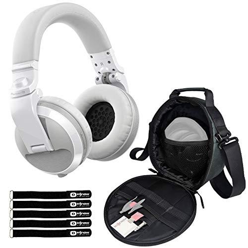 Best Review Of Pioneer DJ HDJ-X5BT White Wireless Bluetooth DJ Studio Headphones w Case