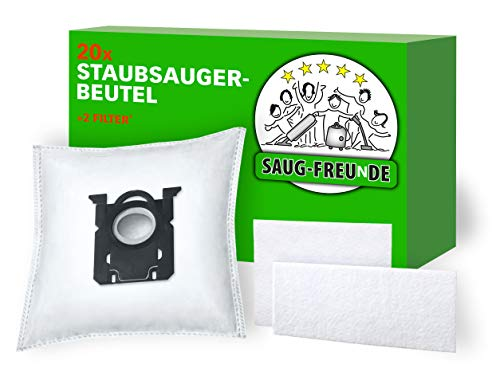 SAUG-FREUnDE I 20 Staubsaugerbeutel für Philips S-Bag, FC8371/. Performer Compact, FC8575/. Performer Active, FC 9050.9099 Jewel, FC 9100.9149 Specialist, FC 9150.9199 Performer