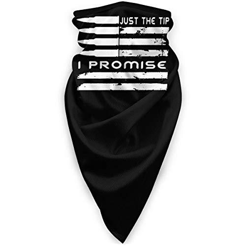 N / A Elastique Bandeaux,Respirant Balaclava,Microfibre Cache-Cou,Just The Tip I Promise USA Bullet Flag Magic Headband Balaclava Unisex Durable 12-in 1 Headband