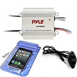 small Pyle Auto 2-Channel Marine Bridge Amplifier – 200 W RMS, 4 ohms, full range stereo system…