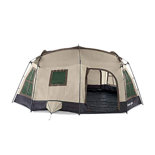 Tahoe Gear Ozark TGT-OZARK-16-D Large 16 Person 3 Season Family Camping Cabin Tent, Brown