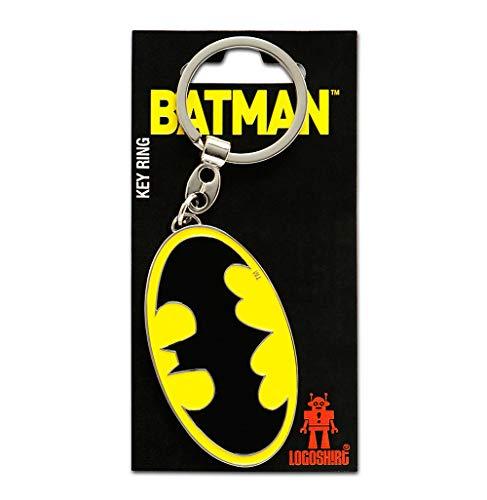Logoshirt DC Comics - Super-héros - Batman Logo Porte-clés - Key-Ring - coloré - Design Original sous Licence
