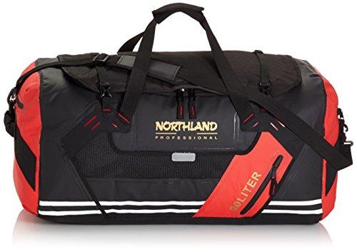 Northland Professional, Borsone impermeabile Aquatic, Nero (Black/Red), 66 x 45 x 38 cm, 90 litri