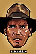 Notebook: Indiana Jones Head , Journal for Writing, College Ruled Size 6