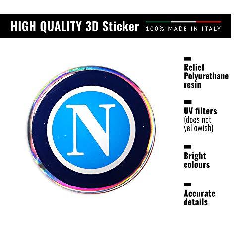 4R Quattroerre.it 32122 Adesivo 3D Stickers Napoli HQ, 48 mm