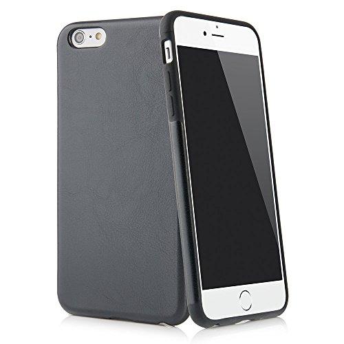 """Custodia per iPhone 6 e 6s Plus (5,5"""") custodia Thin Fit in similpelle PU – cover in similpelle PU per iPhone 6 e 6s Plus Apple, custodia di protezione con rivestimento Soft Feel nero di QUADOCTA"""