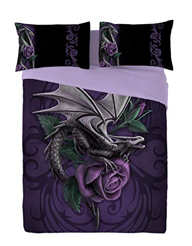 Wild Star Home DRAGON BEAUTY Duvet & Pillows Case Covers Set for Kingsize Bed Artwork By Anne Stokes