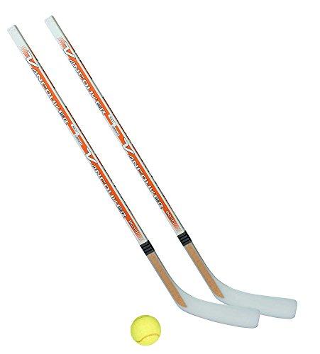 Unbekannt Streethockeyschläger-Set Kids 2: 2 Vancouver-Schläger 95cm gerade Kelle & Tennisball