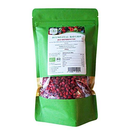 BLUMENTAL Bio-Berberitze, 100% natürlich getrocknete Berberitze-Beeren, ohne Zusatz (250 gr)