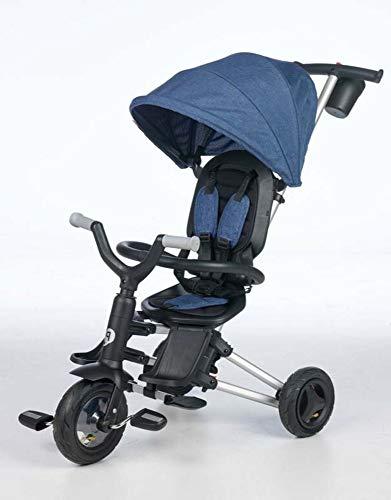 QPLAY - Triciclo Nova - Evolutivo - Plegable - Reclinable - Ideal para Niños de 10 a 36 Meses (máximo 25 Kg) (Azul)