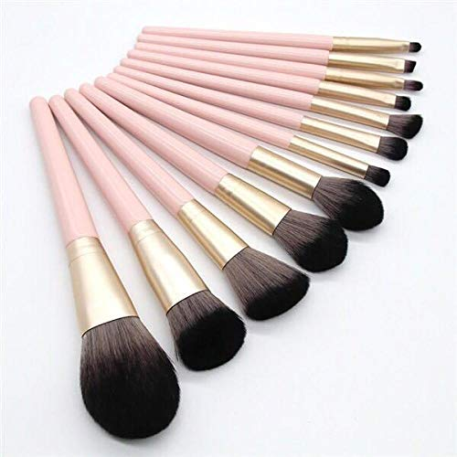 Natural Bamboo Make Up Brushes 12 Small Grape Makeup Brush Sets
