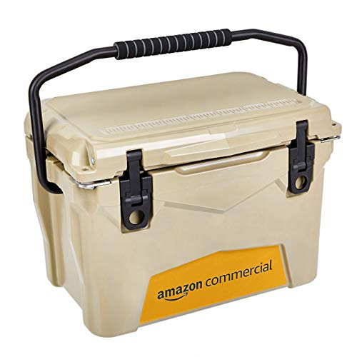 AmazonCommercial Rotomolded Cooler, 20 Quart, Tan