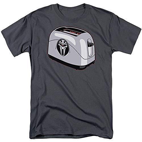 Battlestar Galactica Frakkin Toaster Cylon Charcoal Adult T-Shirt