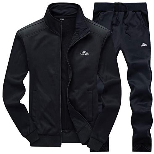 MANLUODANNI Ensemble Survêtement Homme Pantalon Sweat Jogging 2019 Set Noir S