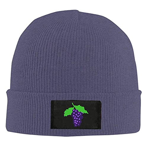 A Bunch of Grapes Knit Beanies Hats for Women Men Classic Watch Cap