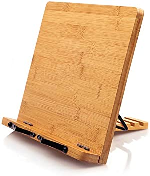 Pipishell Foldable and Portable Kitchen Wooden Cooking Bookstands