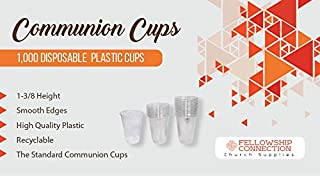Fellowship Connection Communion Cups - 1000 Cups per Box - Plastic - Fits Standard Holy Communion Trays