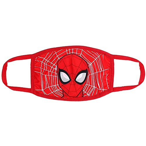 Marvel Spiderman Mask for Kids   Reusable Cloth Face Mask   Washable & Breathable & Protective   Superhero Kids Face Mask Red