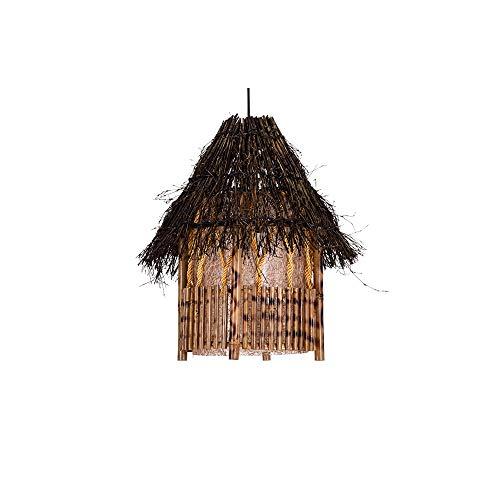 LSSB Lámpara de araña Retro Chino candelabro Antiguo Restaurante Tea Room de bambú Tejido de la lámpara Balcón Balcón Pasillo de bambú de la lámpara por casa, Chalet, Bar, Restaurantes