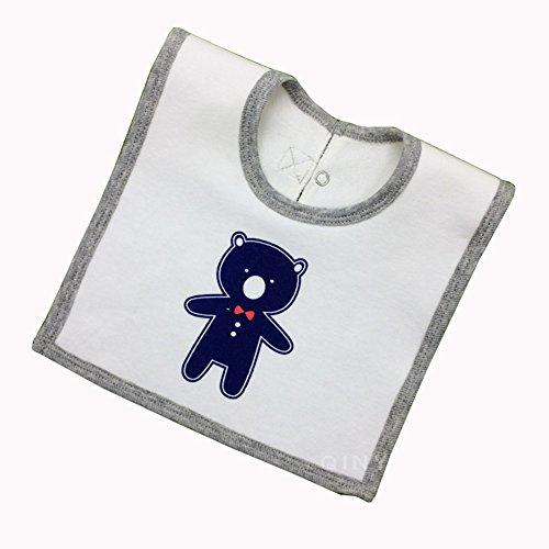 Demarkt 1pcs Bavoirs imperméables carrés de salive de bébé de bébé Bavoirs de Tissu de Serviette de Coton et Filles Mangeant Le Bavoir de Bande dessinée 32cm*22cm