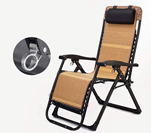 BJYG Lazy Deck Chair Silla de jardín al Aire Libre Mecedora Tumbona Tumbona Silla reclinable Plegable Silla con reposacabezas Camping Turismo B.