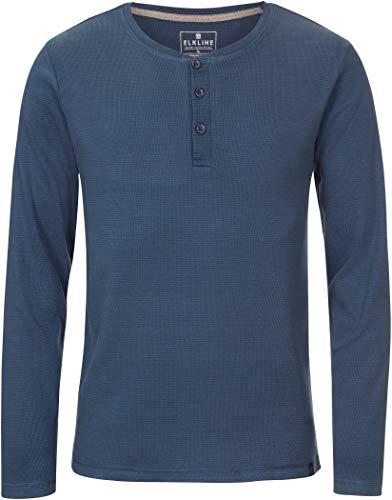 Elkline Whereever Langarm T-Shirt Herren bluemelange Größe L 2020 Langarmshirt