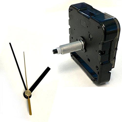 手作り時計用ムーブメント 時計シャフト & 針セット (ロングシャフト&棒型・黒Q-9)