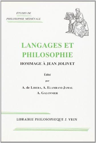 Langages et philosophie: Hommage à Jean Jolivet