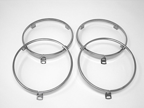 "classicimports240z 5 3/4"" Headlight Headlamp Trim Ring Retainer Set for Datsun 520 521 620"