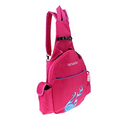 Hellery wasserdichte Tennisschläger Rucksack Tasche Badminton Rucksack Sporttasche - Rose Rot