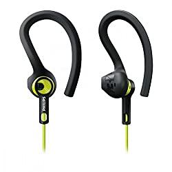 Philips SHQ1400CL / 00 ActionFit sports headphones (3 wearing styles, optimal sound performance) green / black