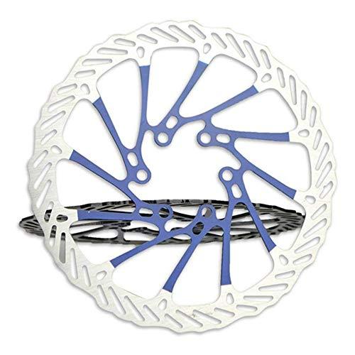 VOANZO Frenos de Disco de Bicicleta Rotor DE Disco de 160 mm, Acero Inoxidable, 6 Pernos Frenos de Disco de Bicicleta de montaña G3 (Azul)