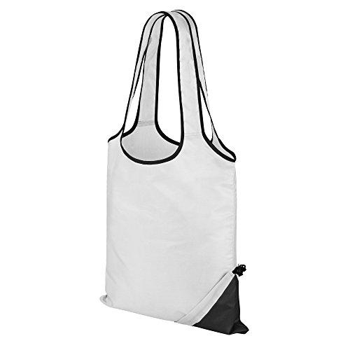 Result - Bolsa para la compra compacta (Paquete de 2) (Talla Única) (Blanco Negro)