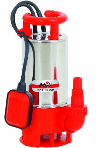 Grizzly Schmutzwasser Tauchpumpe TSP 1100 Inox Schmutz Wasser Tauch Pumpe mit 1100 Watt Motor