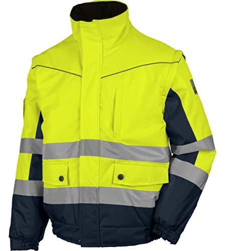 WÜRTH MODYF Blouson de travail 2 en 1 haute-visibilité jaune/marine - Taille XL