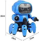 LMCLJJ Robot Intelligent Qui lit dans Les pensées Robot de Commande Tactile et Vocale à Distance Fournir des Conférences Scientifiques pour Les Enfants (Color : Blue, Size : 28x23x8cm)