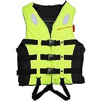 BSTCAR Chaleco Salvavidas Adulto, Chaleco Salvavidas con Silbato de Snorkel Unisex para Nadar Rafting, esquí acuático, Kayak de Playa, natación, Trabajo de Rescate (Seis tamaños Disponibles)