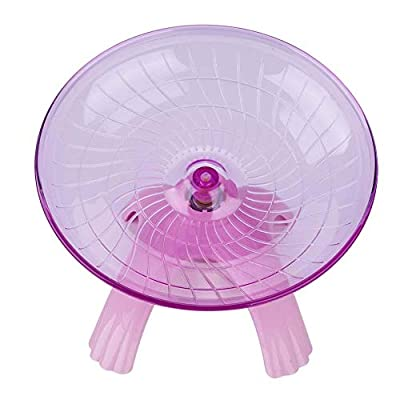 YOUTHINK Hamster Wheel Toys, Wheel Running Plastic Disc for Hamsters Flying Saucer Hamster Silent Spinner Exercise Roller for Small Animal Gerbil Mice Guinea Pig (??) by Poiy