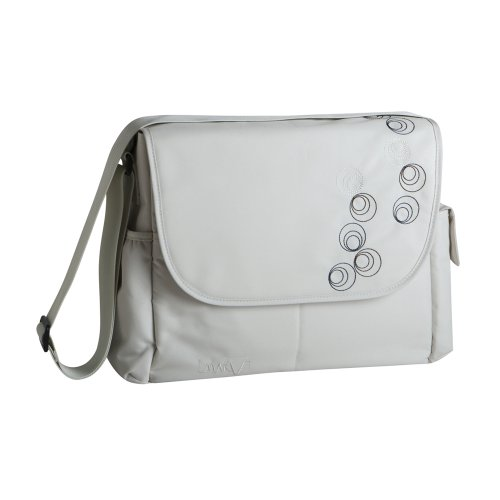 Marv MMB0501 Wickeltasche Messenger Bag, circles beige