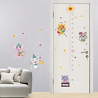 Weaeo サイトひまわりの遊び猫の高さの壁のステッカー赤ん坊部屋の子供たちの寝室の壁のステッカーの家の装飾のウォールアートステッカー装飾が施されている。