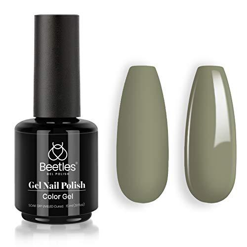Beetles Gel Nail Polish Cecilia Sage Green Color Soak Off LED Nail Lamp Gel Polish -SIZE: .5 fl.Oz/Each 15 ml/Each