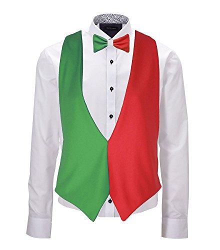 Gilet sans revers drapeau italien et nœud papillon, accessoire pour le tournoi de rugby des 6 nations