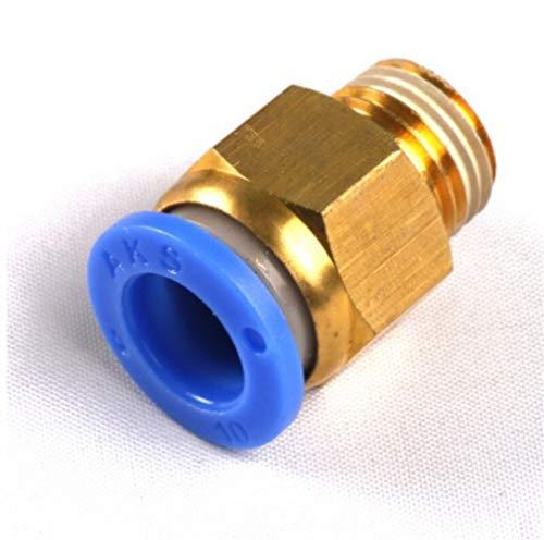 Fuerte y robusto 10pcs 1/8 '' 1/4 '' 3/8 '' 1/2 '' Hombre-4 6 8 10 12 mm recta de empuje en el ajuste de empuje neumático for adaptador de Aire conecte el enchufe hembra Connector Manguera de jardín.