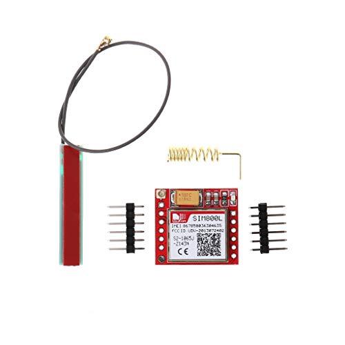 Yintiod Kleinste SIM800L GPRS-GSM-module Micro-SIM-kaart Quad-Band Serial Port TTL-kaart met antenne