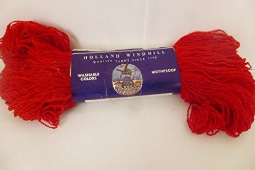 Holland Windmill Scarlet (Red) Nubby Knit 100% Virgin Wool...