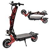 YX-ZD Scooter Eléctrico Todoterreno De 11 '', Bicicleta Eléctrica Plegable para Adultos, Batería De Gran Capacidad De 6000 W, 60 V, 33,6 Ah, Velocidad Máxima, 100 Km/H, Distancia Máxima De 100 Km