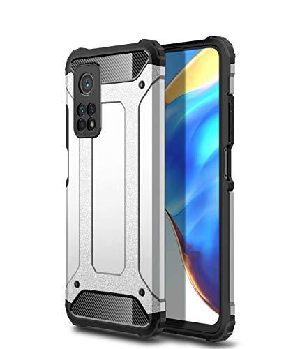 BAIDIYU Funda para Motorola One 5G UW Ace, El diseño de Doble Capa de absorción de Impactos, TPU Suave + PC Dura es Adecuado para Motorola One 5G UW Ace.(Plata)