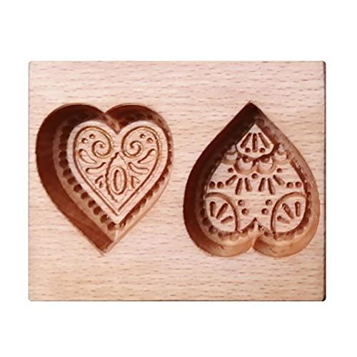 Cortador de galletas de madera, molde de galletas en forma de corazón, latas antiadherentes, herramientas de cocina, para dulces, galletas, dulces, pan de jengibre